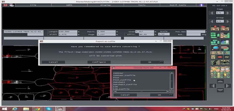 Export Sơ Đồ Lectra Diamino PLX, PLA Sang GBR Và DXF 6