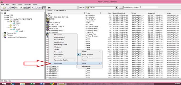 Hướng Dẫn Cách Tạo SubFolder Trong Accumark Explorer 7