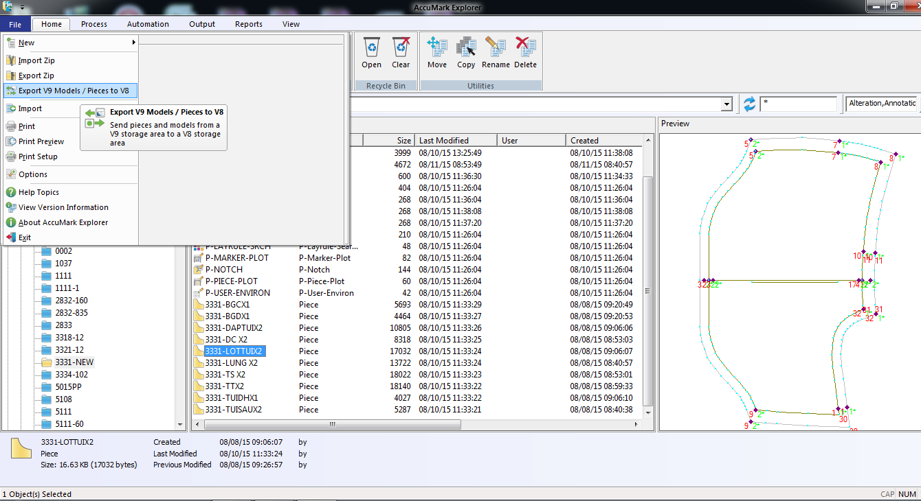 Hướng Dẫn Export File Zip Rập-Sơ Đồ Trên Gerber Accumark V9-V10 Cho V8 8