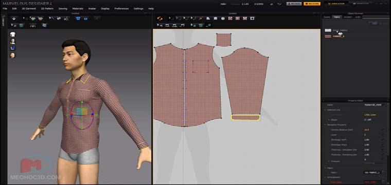 Thiết Kế Áo Sơ Mi Nam Trên Phần Mềm Marvelous Designer 3D 24