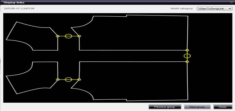 Giác Sơ Đồ Tự Động Links Chi Tiết-Cụm Chi Tiết Trong Lectra Diamino V6R2 2