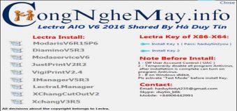 Miễn Phí Lectra AIO V6 2016 Cho Tất Cả Windows x32bit-x64bit