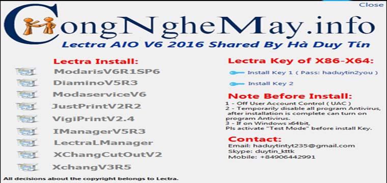 Miễn Phí Lectra AIO V6 2016 Cho Tất Cả Windows x32bit-x64bit 3