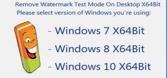 Hướng Dẫn Xóa Bỏ Watermark Test Mode Trên Màn Hình Windows x64Bit