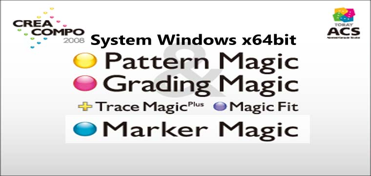 Cài Toray ACS Trên Windows x64bit Full Database-Pattern Magic-Grading Magic-Marker Magic-Trace Magic-Magic Fit 8