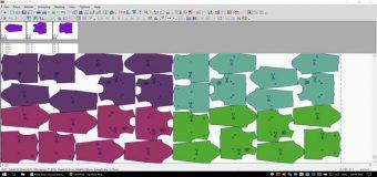 Giác Tự Động Cụm Loang Màu Vải Trên Optitex Marker 17 Nest Pro Multicore