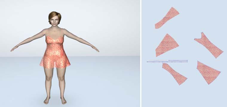 Thiết Kế Thời Trang Lectra Modaris 3D - Đầm Ngủ Quyến Rũ 5