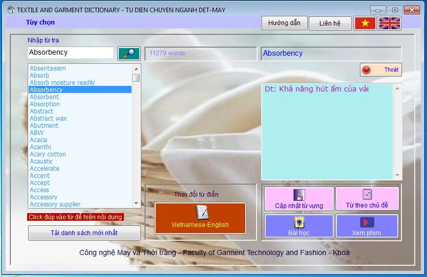 Cập Nhật Chương Trình Từ Điển Chuyên Nghành Dệt May Cho Tất Cả Windows 32bit-64bit 4