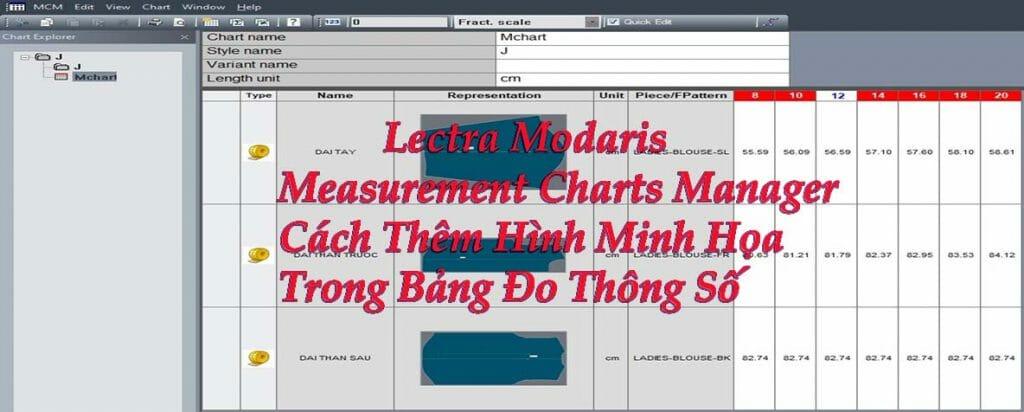 Lectra Modaris Measurement Charts Manager
