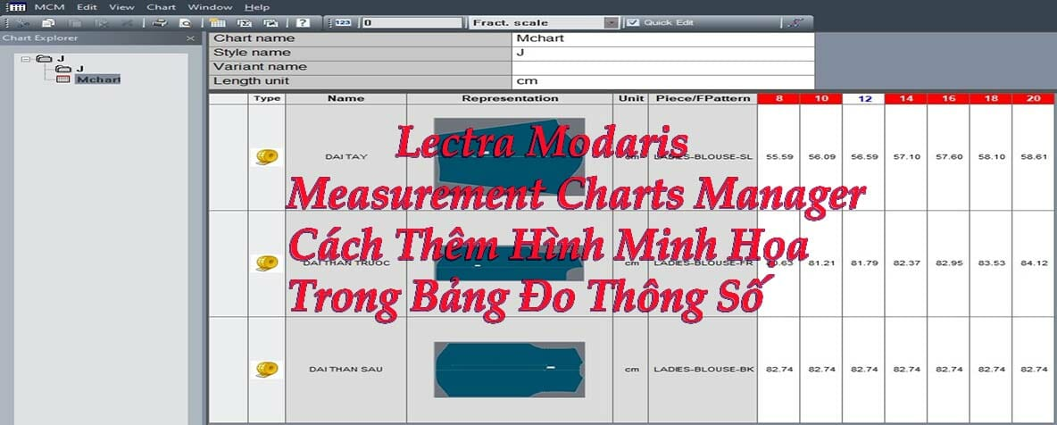Lectra Modaris Measurement Charts Manager